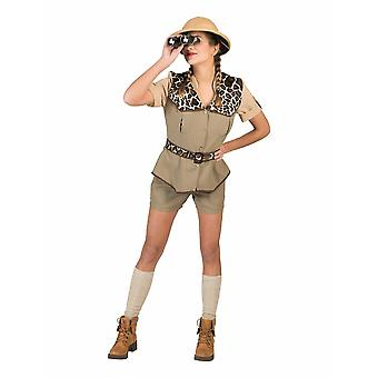 Safari Costume Women's Leopard Pattern Explorer Women's Costume Africa Hunting Researcher Carnival Carnaval