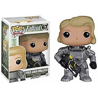 Fallout Female Power Armor Unmasked US Exclusive Pop! Vinyl