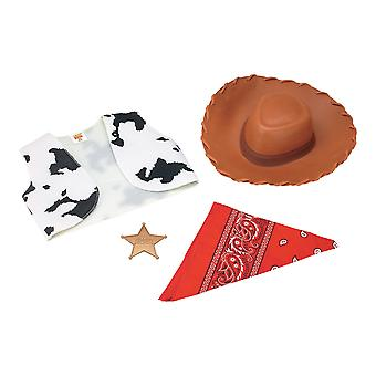 Woody Toy Story Disney Pixar Hat Vest Star Bandana Kids Boys Costume Kit