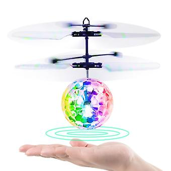 Flying Ball RC Infrared Induction Helicopter Ball with Remote Control Shining Colorful LED Lights and Inductive Control Ideal Gift