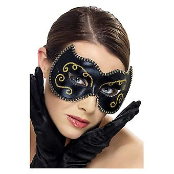 Womens Black persa Eyemask Fancy Dress acessório