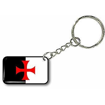 Keychain Key Key Cles Door Car Motorcycle Flag Templar Knights Templar R1