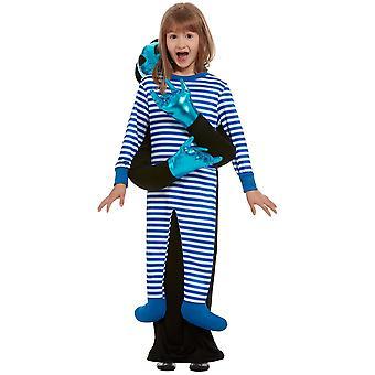 Alienentführung Kostüm Kinder Blau Komplettkostüm Kinderkostüm