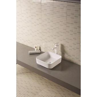 Lavabo da appoggio in ceramica bianca 38,5x38,5 - lb801w