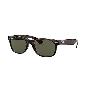 Ray-Ban nya Wayfarer RB2132 902/58 sköldpadda/polariserade Crystal Green solglasögon