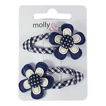 Molly & Rose pastel haar Sleepies Navy