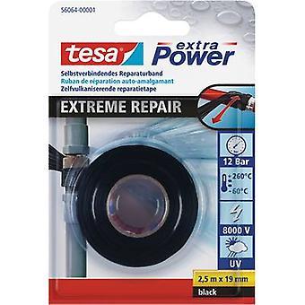 tesa 56064-01-00 56064-01-00 إصلاح الشريط الأسود (L x W) 2.5 م × 19 ملم 2.5 م