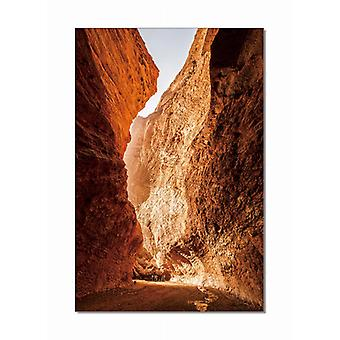 Canyon Crater Photo On Canvas Wall Art