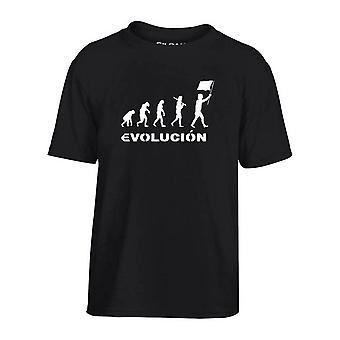 T-shirt bambino nero dec0123 evoluzione