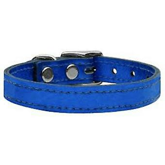 Blue Leather Dog Collar matching Lead Set