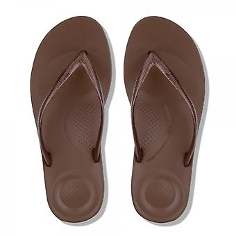 FitFlop Iqushion™ damer ergonomisk tå post flip flops brons
