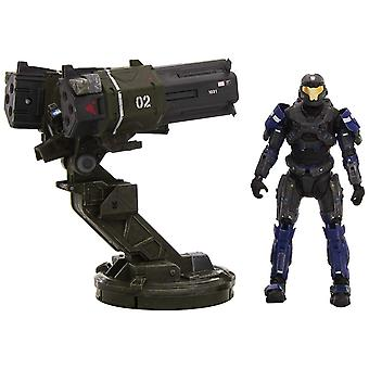 Halo Reach Warthog Accessory Gauss Cannon Rocket Launcher with Spartan JFO Toy