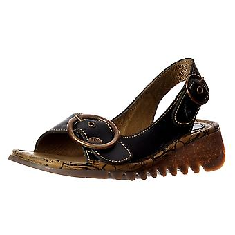 Fly London Tram Wedge Slingback Sandal - Cleated Sole