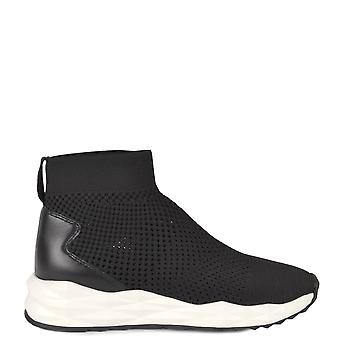 Ash SOUND Trainers Black Knit & Leather