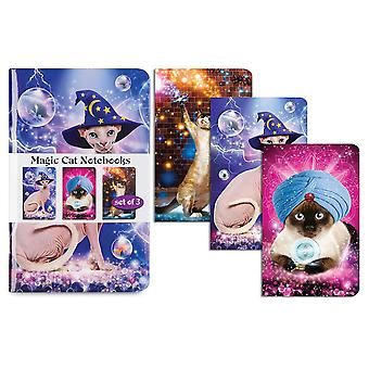 Cuadernos archie McPhee Magic Cats (Set de 3)