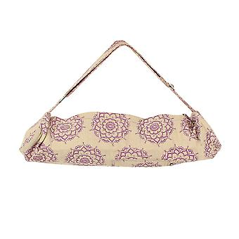 Fitness Mad Jute Cotton Mandal Patterned Yoga Pilates Mat Carrier Bag