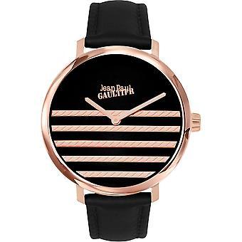 Gaultier 8506110 - Armbanduhr Leder schwarz Frau