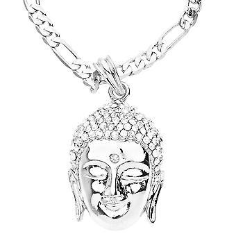 Bling sieć odzieżowa – srebrny głowa Buddy z lodem