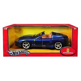 Ferrari Super America Blue 1/18 Diecast Model Car par Hotwheels