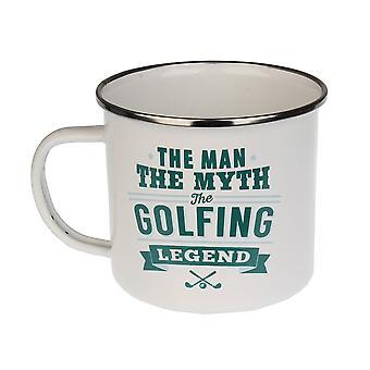 História e Heráldica Golfing Tin Mug 12