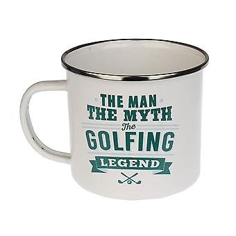 History & Heraldry Golfing Tin Mug 12
