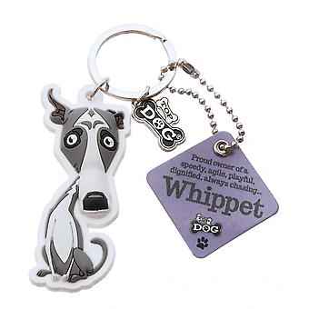 Wags & Whiskers Whippet Keyring