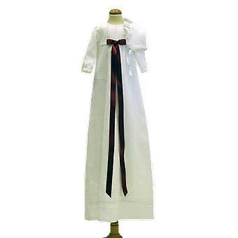 Dopklänning Grace Of Sweden, Vinröd Rosett Och Dophätta  Tr.v.l