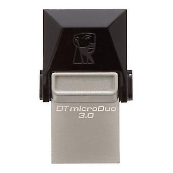 Kingston DTDUO3 64 GB USB flash drive e micro USB 3,0 cinza preto