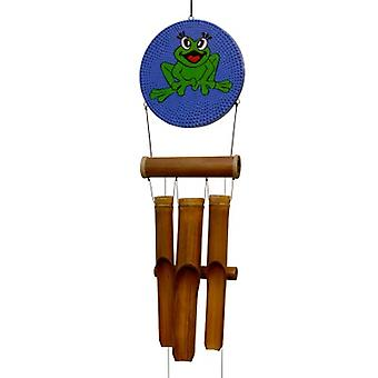 Happy Frog Dots Bamboo Wind Chime
