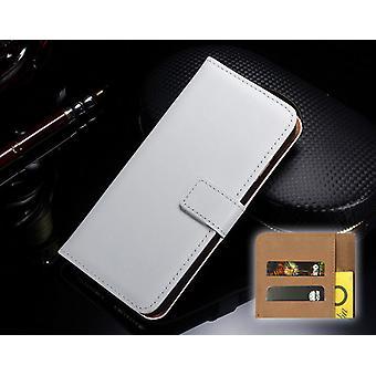 Voor iPhone XS, X Wallet Case, Elegante slanke lederen cover kaarthouder, Wit