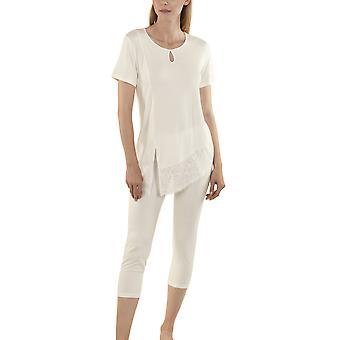 Lisca 23265-CE Women's Felicity Cream Pyjama Set