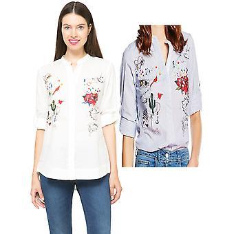 Desigual Women's Doodle and Sequin Hola Shirt