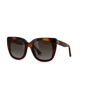Gucci GG0163S 002 Havana/Brown Gradient Sunglasses