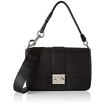 Trussardi Jeans with Love City Shoulder LG Eco Black Women's Crossbag Bag (Black) 9x20x31 cm (W x H x L)