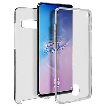 Silicone case + back cover in polycarbonate for Samsung Galaxy S10 - Transparent