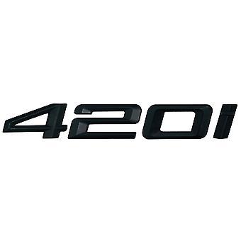Matt Black BMW 420i Car Model Rear Boot Number Letter Sticker Decal Badge Emblem For 4 Series F32 F33 F36 G22 G23 G26