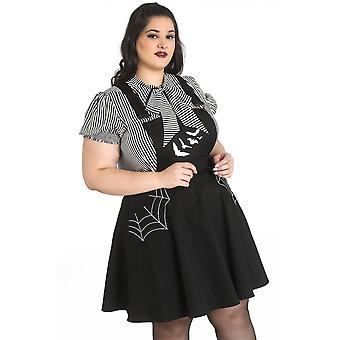 Hell Bunny Miss Muffet Plus Size Pinafore Dress