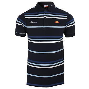 Ellesse lewoodio menn's marineblå polo skjorte