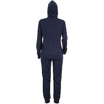 Women Casual Ripped Hole Pullover Hoodie Sweatpants 2 Piece Sport Jumpsuits O...