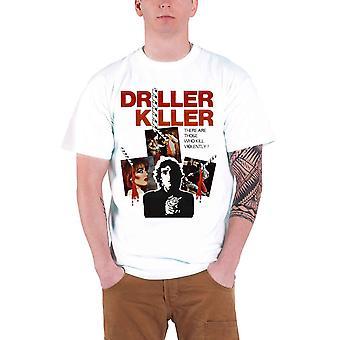 Plan 9 Driller Killer Movie Poster Official Mens New White T Shirt