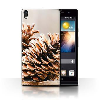 STUFF4 Case/Cover for Huawei Ascend P6/Pine/Conifer Cone/Christmas Photo