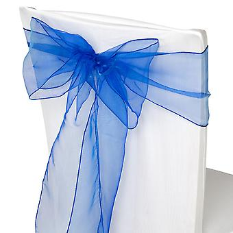 17cm x 274cm Organza Table Runners Wider et Fuller Sashes Royal Blue