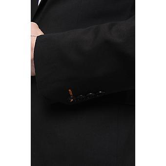 Avail London Mens Black 2 Piece Suit Skinny Fit Notch Lapel