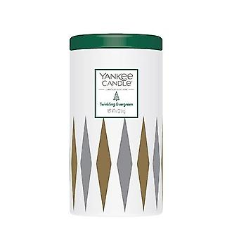 Yankee Candle Limited Edition Twinkling Evergreen Pillar Candle In Ceramic Jar