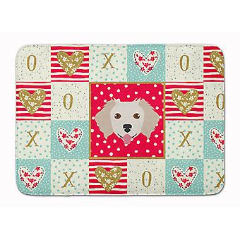 Small Greek Domestic Dog Love Machine Washable Memory Foam Mat