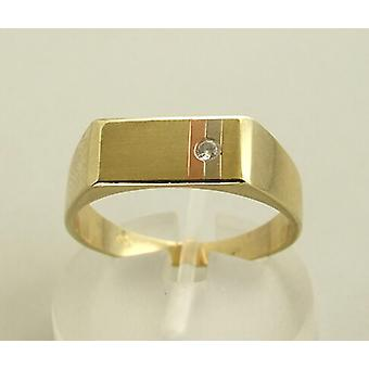 Tricolor diamond ring