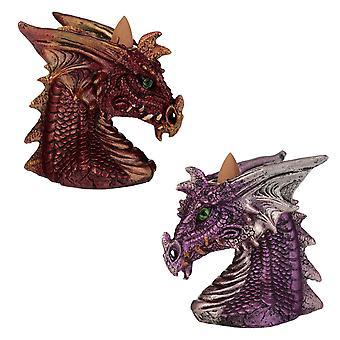 Puckator Dragons Head Backflow Incense Burner, Assorted Colours