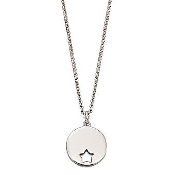 Little Star Gia Silver Cut Out Star Dames Ketting