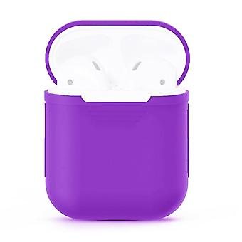 For Apple Airpods Storage Bag Purple Silicone Protective Box