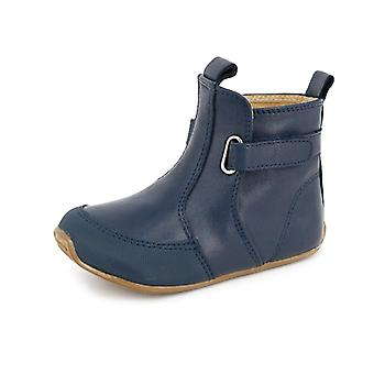 SKEANIE Toddler and Kids Leather Cambridge Boots in Navy Blue